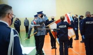 Nowi funkcjonariusze w łódzkim garnizonie policji